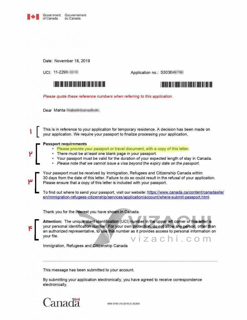 پیکاپ ویزای کانادا هزینه پیکاپ پاسپورت کانادا ترکیه استانبول آنکارا مدارک لازم پیکاپ ویزا کانادا